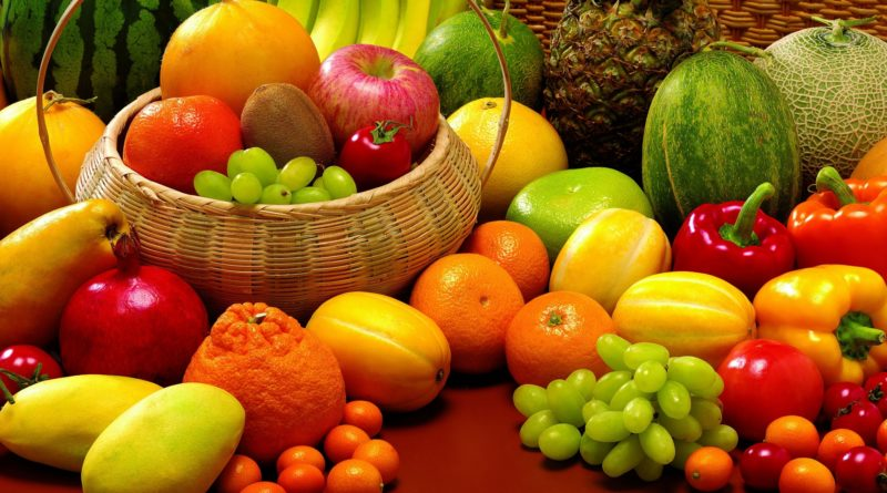 fruit_allsorts_pineapple_melon_grapes_orange_tangerine_kiwi_apples_basket_43780_1920x1080